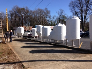 Tanks awaiting their new home