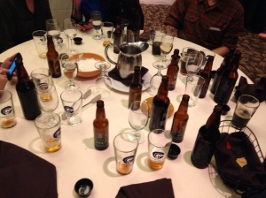 Aftermath of Stone Brewing Tasting