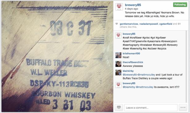 Brewery 85 Bourbon Barrels